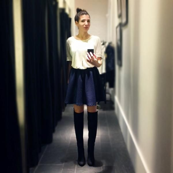 Latest outfit by Meni Tng on Apparel fashion community! #fashio #overthekneeboots #pull&bear