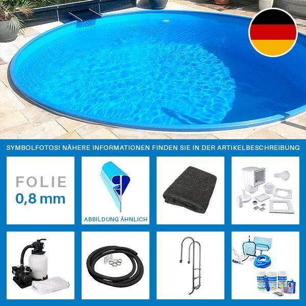 Rundpool-Set PLUS 5,00 x 1,20 m Folie 0,8 mm Dem Alltag entfliehen und die warmen Sommertage einfach genießen - womit könnte es besser klappen als mit einem Sprung in den eigenen Pool? Denn es gibt doch keine bessere...