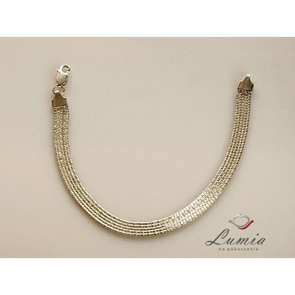 Bransoletka srebrna łańcuszkowa