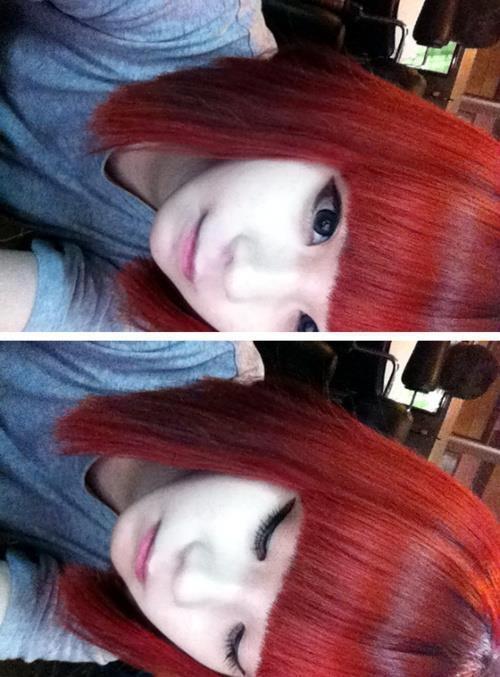 Ulzzang Red Hair #Ulzzang Girl #...