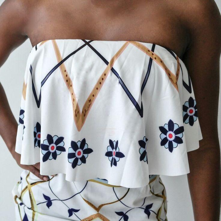 Strapless & pencil skirt