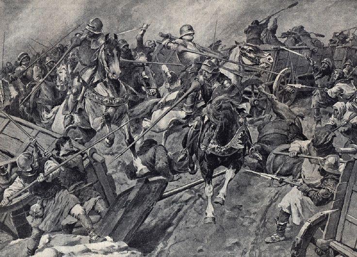 Illustration Věnceslav Černý . Bitva u Lipan