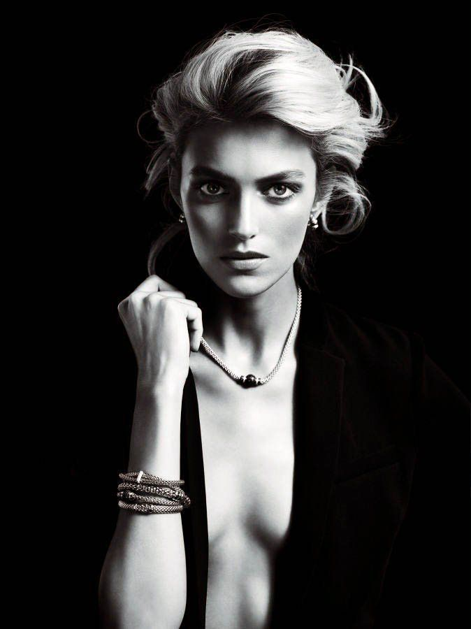 anja rubik apart diamond jewelry1 Anja Rubik Shines in the Apart Diamond Spring 2014 Campaign