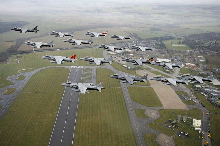The 16-ship formation passes over RAF Wittering on December 14. Crown copyright/MoD 2010 – Air Forces Monthly