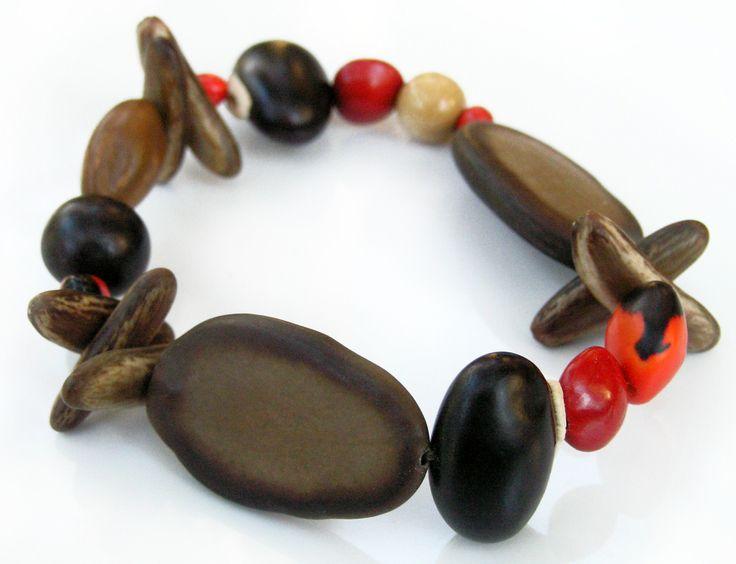 Tropical seeds bracelet