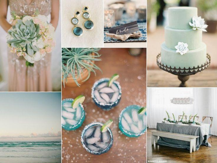Ocean blue and sea green wedding inspiration board  www.MadamPaloozaEmporium.com www.facebook.com/MadamPalooza