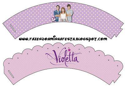 Violetta – Kit Completo com molduras para convites, rótulos para guloseimas, lembrancinhas e imagens! |Fazendo a Nossa Festa