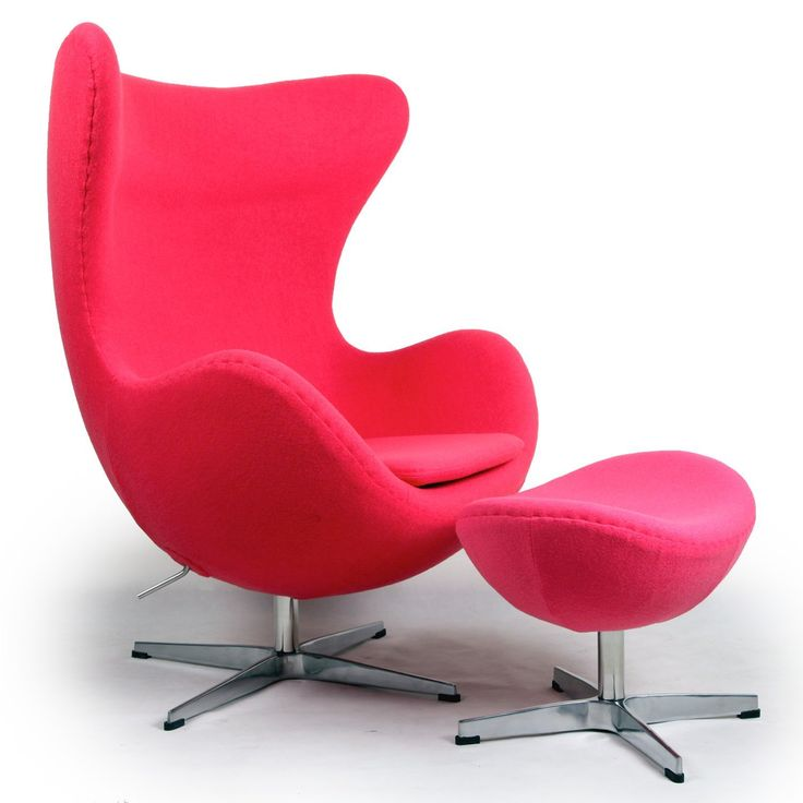 Funky Teen Lamps | Funky Pink Chairs for Teen Girls: Kardiel Egg Chair & Ottoman, Pink ...