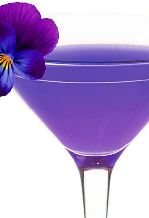 Purple Rain  45 ml vodka 30 ml blue curaçao 30 ml cranberry juice