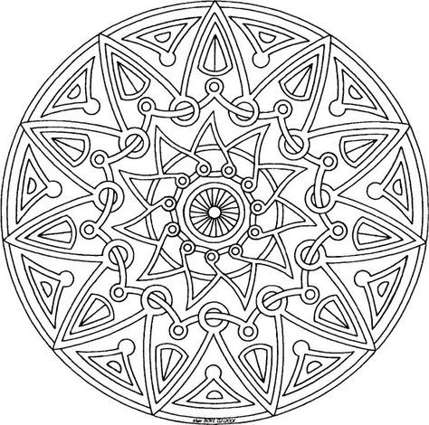 mandala free coloring page