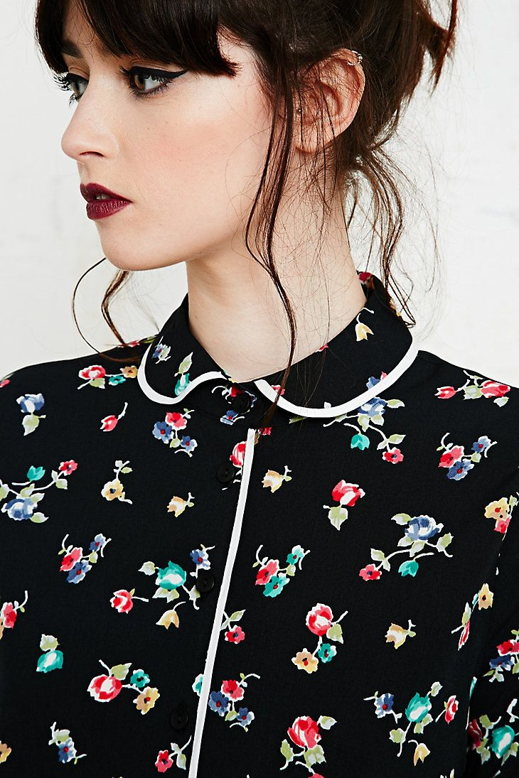 Cooperative Floral Blouse in Black
