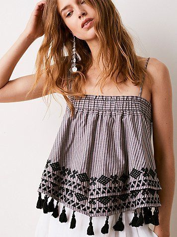 Embroidered Stripe Tube by Free People