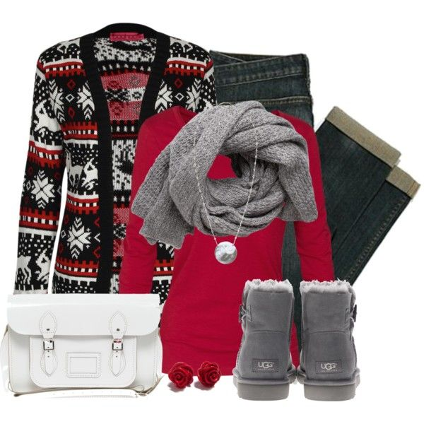 Christmas Cardigan, created by wishlist123 on Polyvore