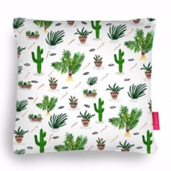 Cacti & Friends Cushion found on Polyvore featuring home, home decor, throw pillows and handmade home decor