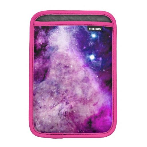 **So cool with the pink trim - want this for xmas** Galaxy iPad Mini Sleeves Stars Nebula Purple Pink Via: http://www.zazzle.com/bangingifts*