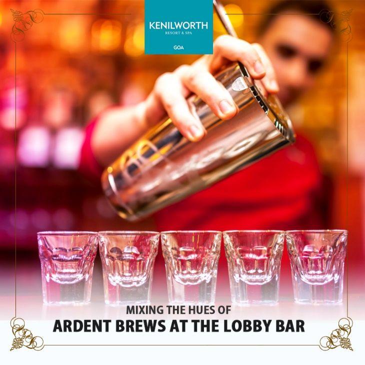 Stop not till your senses waver! Experience the taste of cocktails at The Lobby Bar.  #Cocktails #LobbyBar #SunkenBar #Bar #Party #Celebration #Hospitality #Luxury #GoanHolidays #Restaurant #KenilworthHotels #Resort #Goa