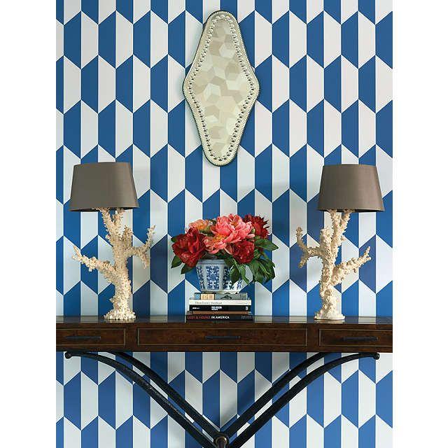 buycole u0026 son tile wallpaper blue white online at johnlewis