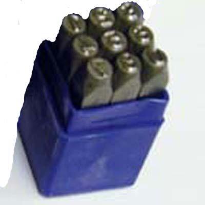 9-Piece 3-16-Inch Number Stamp Set