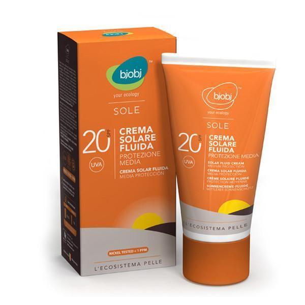 crema fluida solare protezione media spf 20 bjobj protezione media