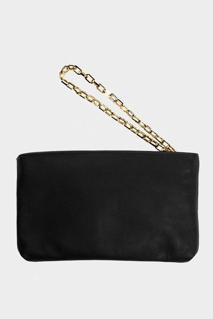 Affaire Phantom Leather Wristlet