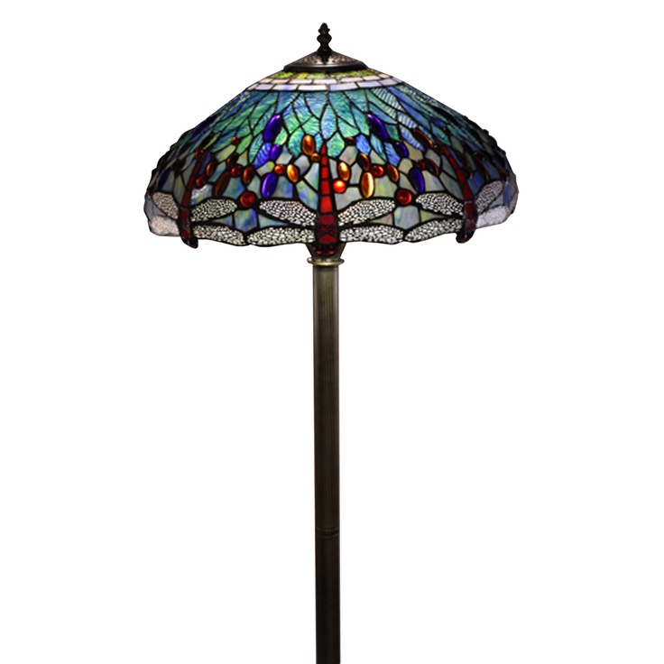 tiffany style dragonfly floor lamp. Black Bedroom Furniture Sets. Home Design Ideas