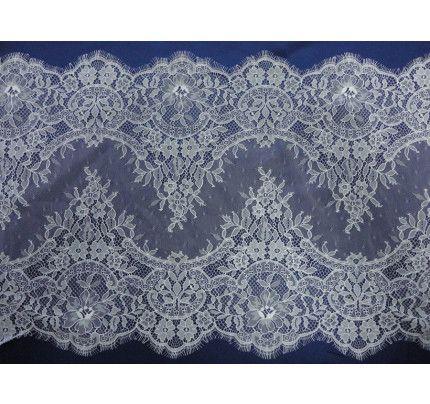 Krajkové stuhy na svatební šaty, šíře 39 cm (metráž)