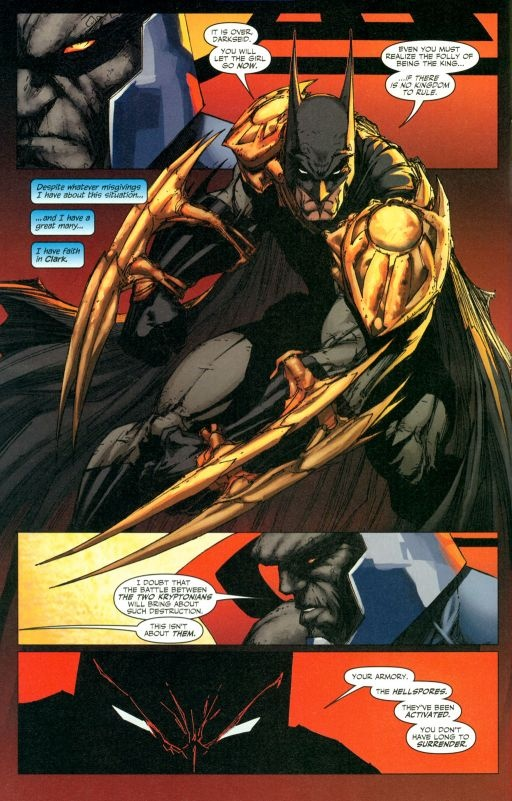 Batman vs Darksied. this was awesome. when a human beat Darkseid because Darkseid realized that This human would stop at nothing.