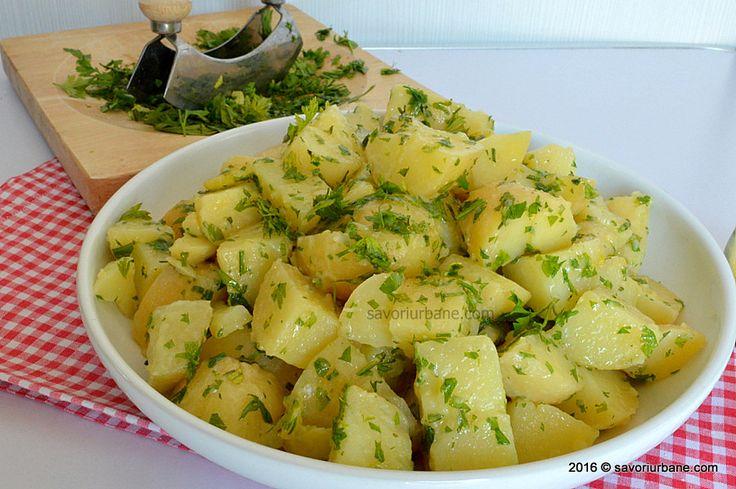 Cartofi natur cu unt si patrunjel