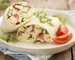 Wrap croquant poulet et concombre