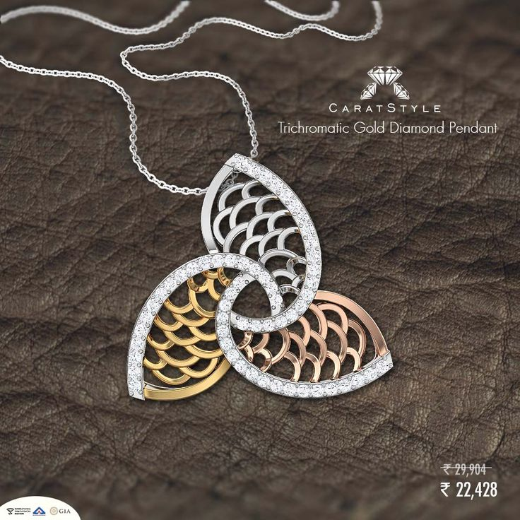 We have 2 kids but really she has 3 #pendant #gold #diamonds #diamondpendant…