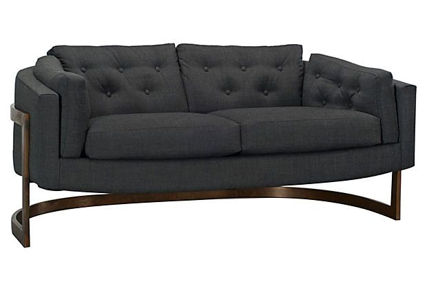 One Kings Lane - Magnificent Mix - Milo Baughman Sofa