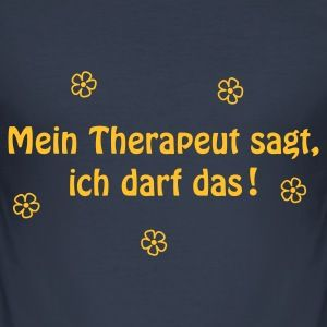 Dark navy Therapie T-Shirts - Männer Slim Fit T-Shirt