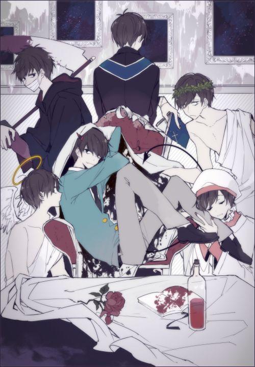 Osomatsu-san- Osomatsu, Karamatsu, Choromatsu, Ichimatsu, Jyushimatsu, and Todomatsu #Anime「♡」religion