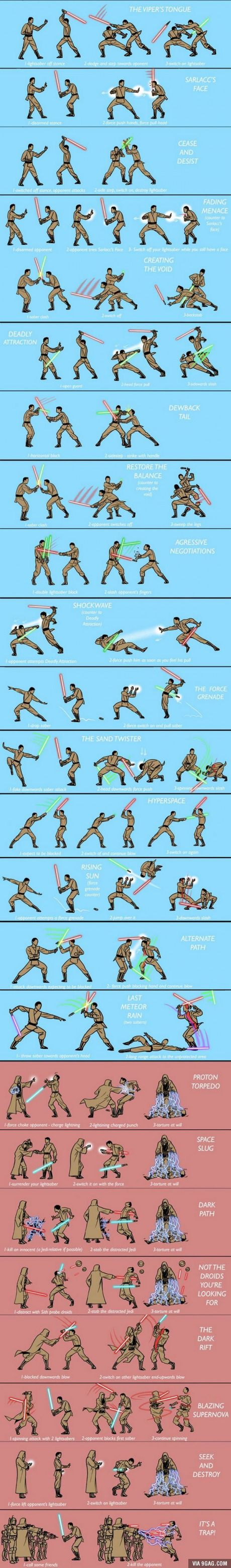 Alternate Lightsaber Techniques -- I think the Jedi Council needs to take some notes here.