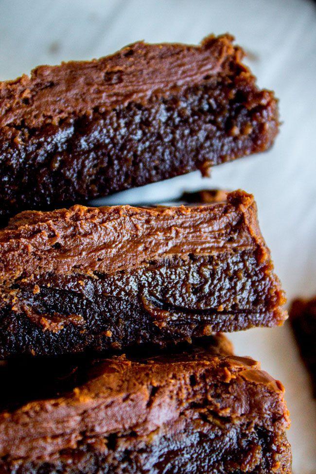 Nana's Famous Fudge Brownies from The Food Charlatan
