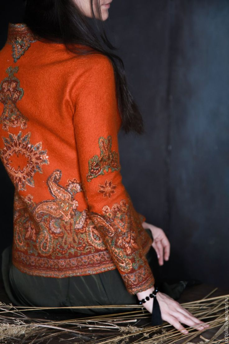 "Buy Felted jacket ""ETRO"" - style, felt, felting wool, felt handmade, felt jacket"