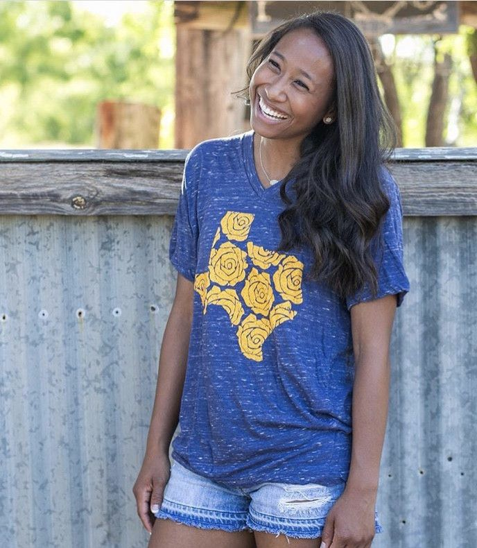 The yellow rose of Texas tee is perfect for everyday wear!
