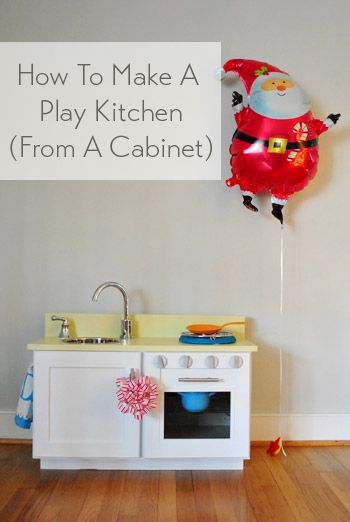 Cute birthday or Christmas present (the base cabinet makes it so easy!)