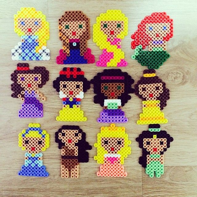 Disney Princess perler beads by zzo_ra