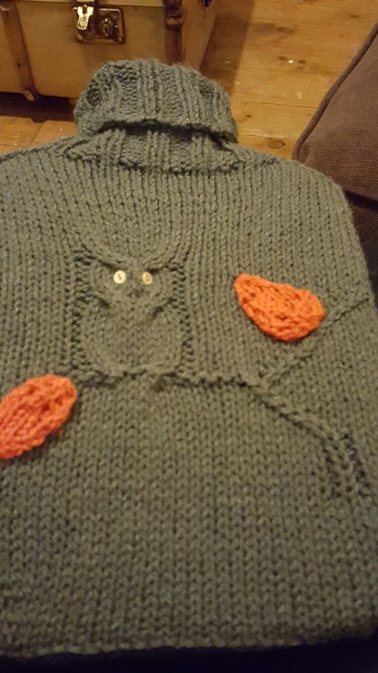 Autumn hot water bottle cover