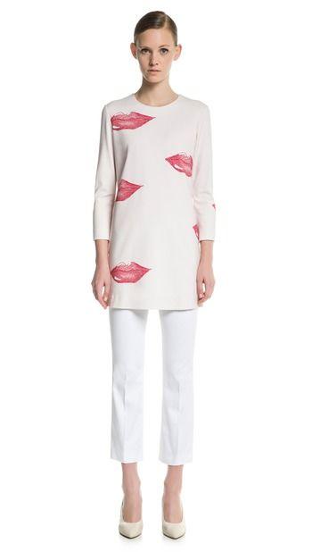 Positional print dress