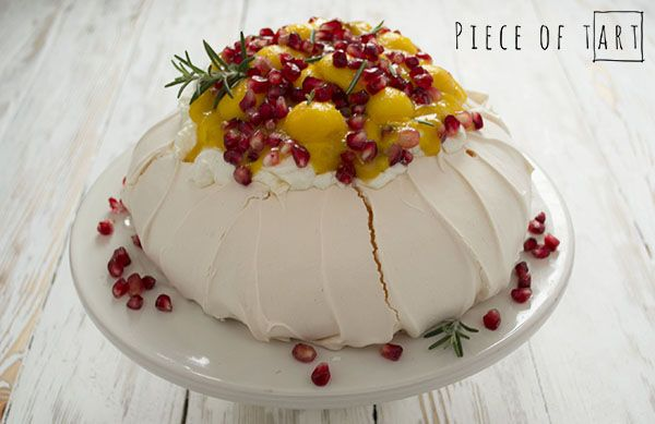 #pavlova with #mango and #pomegranate
