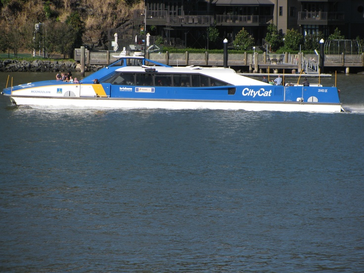 City Cat ferry on the Brisbane River - part of the city's public transportation system