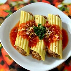 Microwave Mexican Manicotti