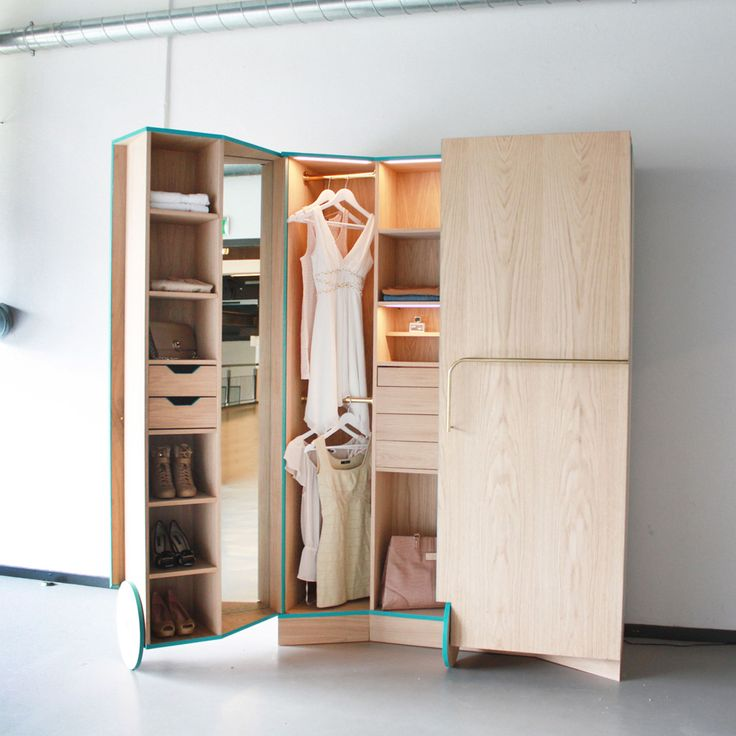 moveable closet! Great idea. Especially for home owners adding an apt for rent in their basement or above their garage.