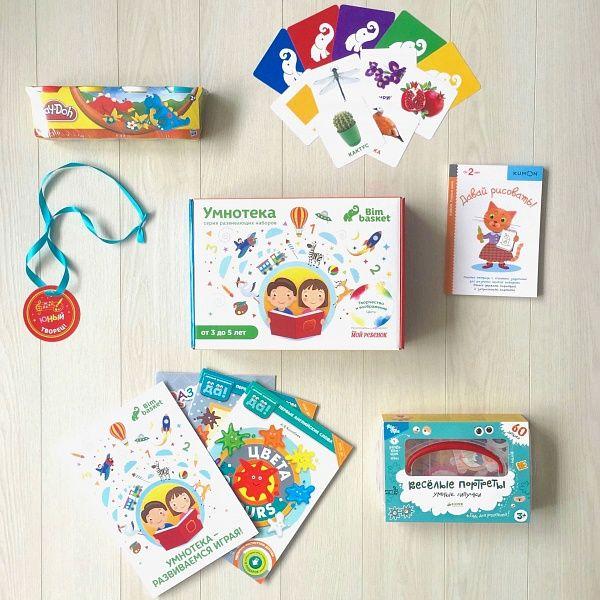 """Набор """"Творчество и воображение"""" учит ребенка различать и узнавать основные цвета. Материалы набора способствуют развитию образного мышления и креативности, знакомству с базовыми английскими словами по теме набора."""