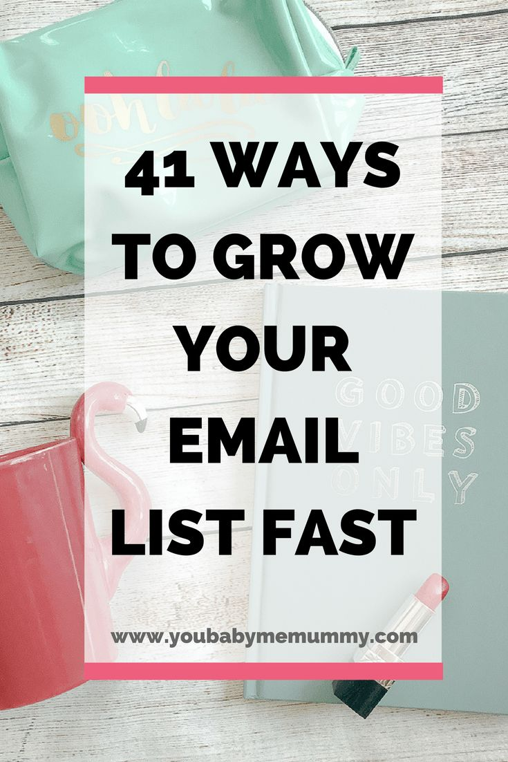 Need to grow your list, but stumped as to how? Here are 41 ways to grow your email list fast