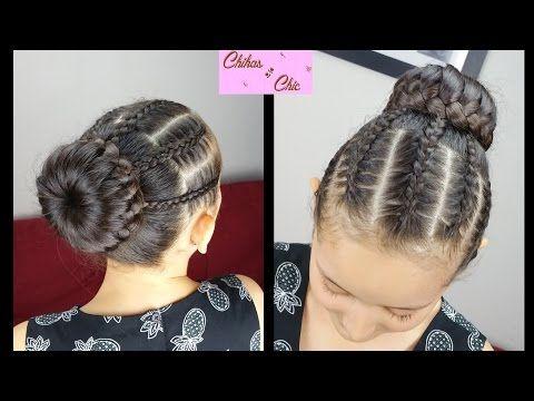 Diadema y DonaTrenzadas - Braided Headband/Bun   Peinados con Trenzas   Peinados para niñas - YouTube