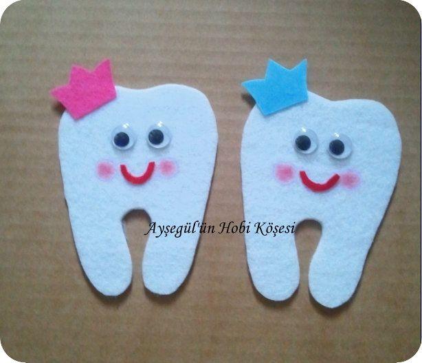 Kalın keçeden dolgusuz diş magnet