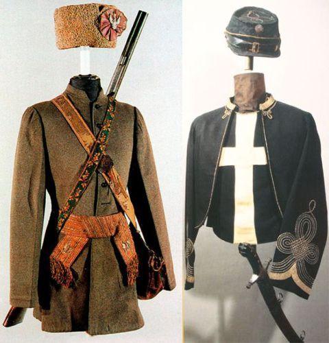 Ubiór powstańczy Juliusza Bykowskiego z 1863 r. oraz mundur oficera Żuawów Śmierci